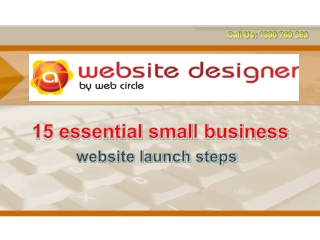 15 essential small business website launch steps