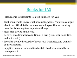 Books for IAS exam are available online at halfmantr