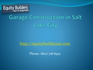 Garage Construction in Salt Lake City
