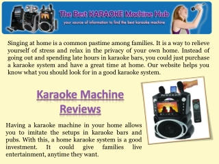 Karaoke Machine Reviews