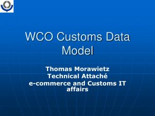 wco customs data model
