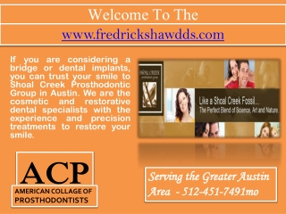 Dental Implants Austin- Teeth Whitening- Tooth Extraction