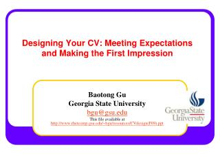 Designing Your CV: Meeting Expectations and Making the First Impression
