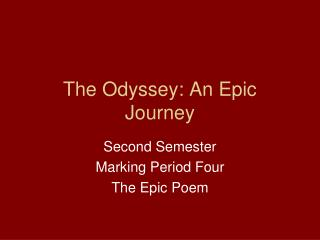 The Odyssey: An Epic Journey