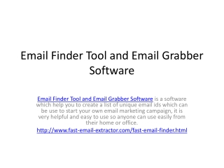 Email Finder Tool and Email Grabber Software