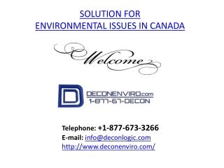 Environmental Issues Canada