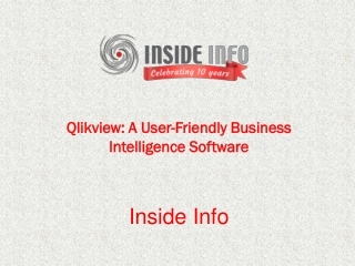 Qlikview: A User-friendly business intelligence software