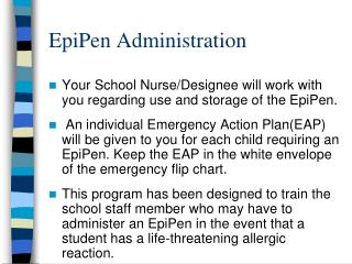 epipen administration
