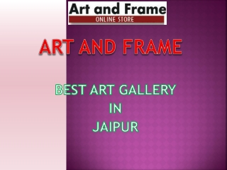 Best Art Gallery in Jaipur