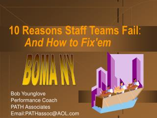 10 Reasons Staff Teams Fail:   And How to Fixem