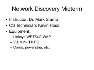 Network Discovery Midterm