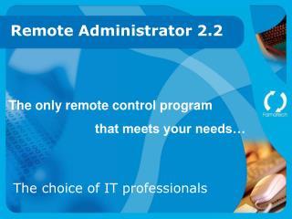 remote administrator 2.2