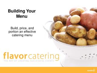 Building Your Menu