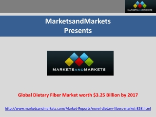 Global Dietary Fiber Market worth $3.25 Billion by 2017