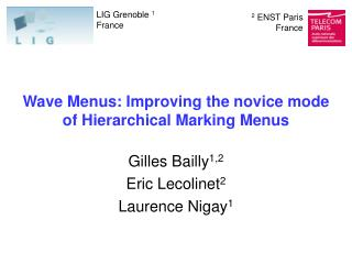 Wave Menus: Improving the novice mode  of Hierarchical Marking Menus