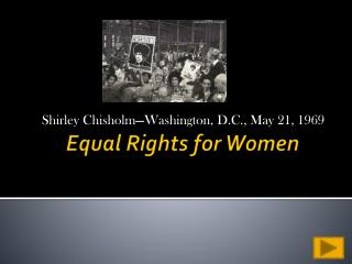 Equal Rights for Women