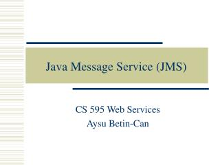 java message service jms