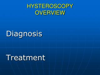 HYSTEROSCOPY OVERVIEW