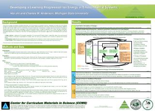 developing a learning progression for energy in environmental systems