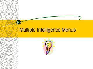 Multiple Intelligence Menus