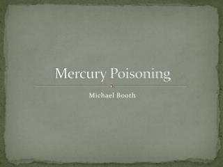 Mercury Poisoning