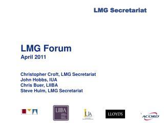 LMG Forum April 2011