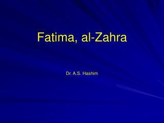 Fatima, al-Zahra