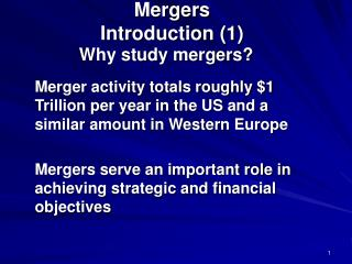 Mergers Introduction 1