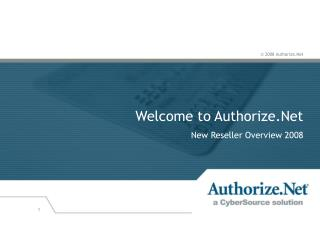 Welcome to Authorize.Net