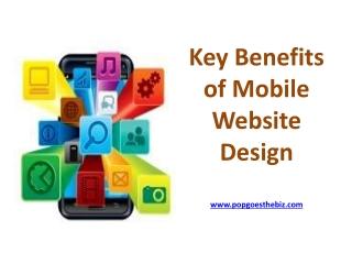 Key Benefits of Mobile Website Design