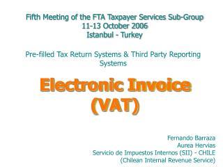 electronic invoice vat