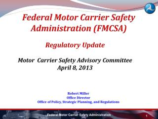 Federal Motor Carrier Safety Administration FMCSA