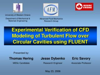 Experimental Verification of CFD Modeling of Turbulent Flow over Circular Cavities using FLUENT