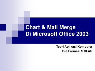 Chart  Mail Merge Di Microsoft Office 2003