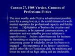 Cannon 27, 1908 Version, Cannons of Professional Ethics