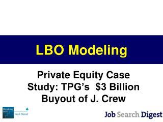 LBO Modeling