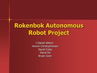 Rokenbok Autonomous Robot Project