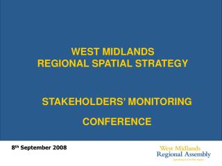 WEST MIDLANDS  REGIONAL SPATIAL STRATEGY