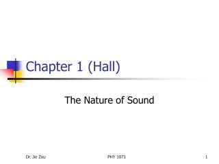Chapter 1 Hall