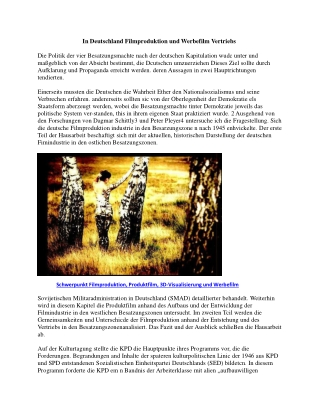 In Deutschland Filmproduktion und Werbefilm Vertriebs