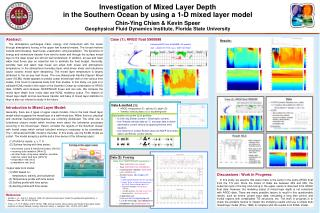 Investigation of Mixed Layer Depth  in the Southern Ocean by using a 1-D mixed layer model  Chin-Ying Chien  Kevin Speer