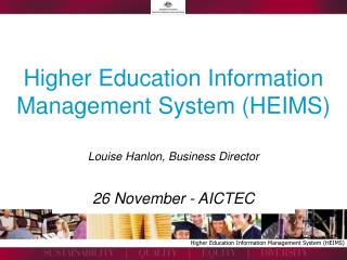 Higher Education Information Management System HEIMS