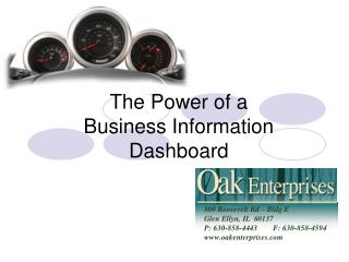 The Power of a  Business Information Dashboard