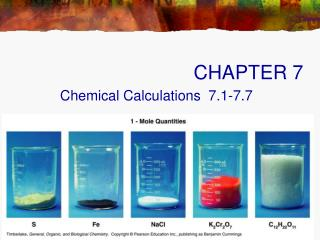 Chemical Calculations  7.1-7.7