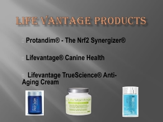 LifeVantage   how to reduce stress