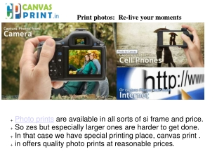 Get Quality photo prints at canvasprint.in
