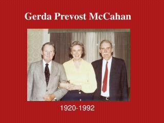 Gerda Prevost McCahan