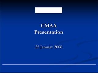 cmaa presentation