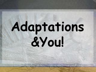 Adaptations You