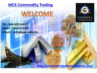 MCX Commodity Trading